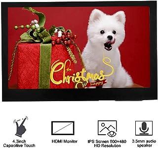 Bewinner 4.3 Pulgadas LCD HDMI Pantalla para Raspberry Pi, BB Black, Banana Pi y Otras Mini PC de Uso General 3.5mm Interfaz de Audio y Altavoz 1920x1080 Pantalla Full HD