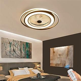 Ventilador De Techo Con Luz Y Mando A Distancia Lámpara De Techo, Moderna LED Ventilador De Techo Control Remoto De Correa Regulable Decoración De Interiores Plafón De Techo Lluminación