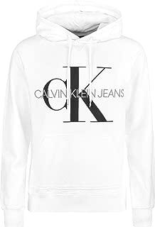 Calvin Klein Jeans Men's Graphic Pullover Hoodie, White