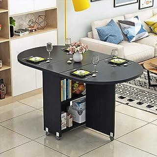 RUNWEI Table Pliante Moderne Petit Appartement Table Pliante Maison Ronde Ovale Salle à Manger Salon 8 Couleurs (Color : B)