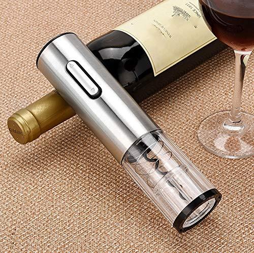 ZOUSHUAIDEDIAN Botella Sacacorchos eléctrico recargable automática kit contiene sacacorchos lámina cortadora de vacío tapón vertedor y el aireador de vino con el cable de carga USB for el amante del v