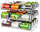 Utopia Kitchen Storage Can Rack Organizer, Stackable Can Organizer Holds Upto 36 Cans for Kitchen Cabinet or Pantry - Chrome