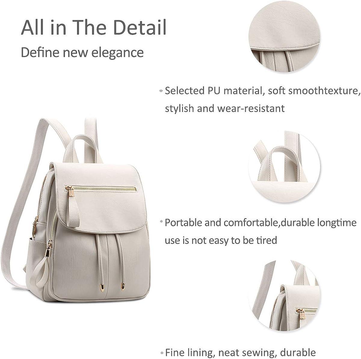 NICOLE/&DORIS Fashion Women Backpack Mini Backpack Leather Ladies Rucksack Shoulder Bag Purses Girls Backpack