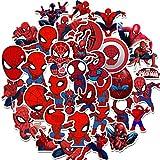 Spiderman Autocollant - Miotlsy 70 Pcs Autocollants Super Heros Autocollant Graffiti Enfants Vinyle Autocollants, pour Ordinateur Portable Voitures Moto Vélo Skateboard Bagages Bumper