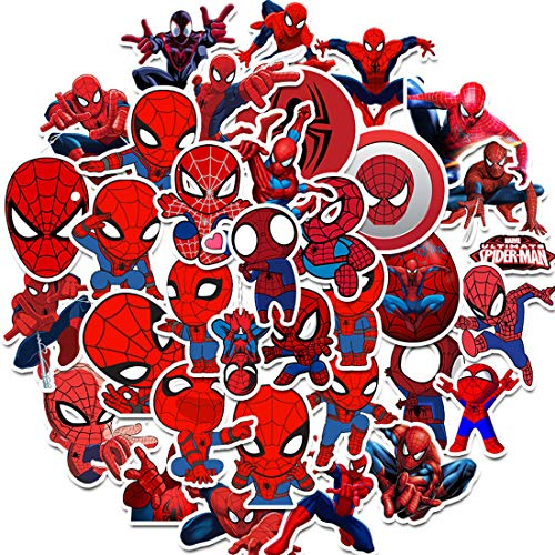 Spiderman Autocollant - Miotlsy 70 Pcs Autocollants Super...