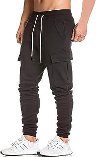BigRabbit Men's Cargo Jogger Pants Workout Sweatpants Casual Trousers