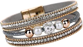 Jewelry for Women, Multilayer Bangle Bracelet Crystal...