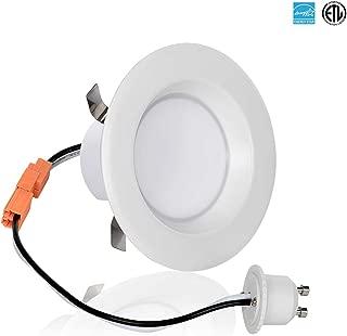 Light Blue 3-Inch LED Downlight Retrofit, GU10 Base, 8-Watt (50W) Soft White 3000K, LED Retrofit Recessed Lighting Fixture, 560 Lumens, Dimmable, ETL-Listed