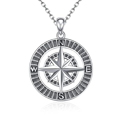 Jewelry 925 Sterling Silver Charm Anchor Compas...