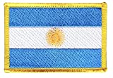 Flaggen Aufnäher Argentinien Fahne Patch + gratis Aufkleber, Flaggenfritze®
