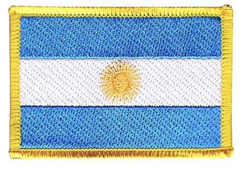 Flaggenfritze Flaggen Aufnäher Argentinien Fahne Patch + gratis Aufkleber
