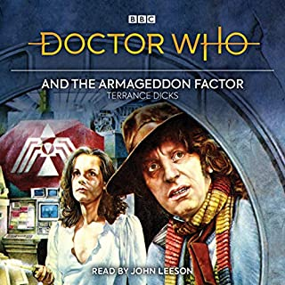 Doctor Who and the Armageddon Factor audiobook cover art