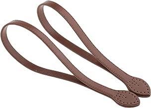 Tiras para bolsa de mano, 1 par de asas de piel de 60 cm para hacer bolsos y manualidades Tamaño libre marrón
