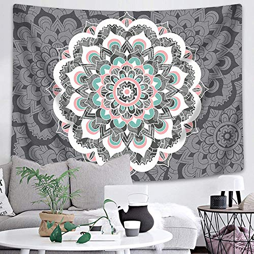 KHKJ Tapiz de Mandala Indio para Colgar en la Pared, tapices de Almohadilla para Dormir Bohemia, Playa de Arena, Toalla, Alfombra, Manta, Tienda de campaña A14, 200x150cm