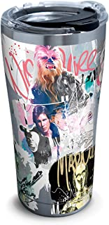 Tervis 1309699 Star Wars-Graffiti Stainless Steel Insulated Tumbler with Clear and Black Hammer Lid, 20oz, Silver