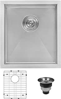 Ruvati 16-inch Undermount 16 Gauge Zero Radius Bar Prep Sink Stainless Steel Single Bowl - RVH7111