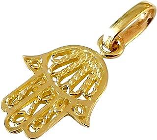 separat erh/ältlich Lucchetta Schmuck Khamsa Fatima Hand 585 Gelbgold-Anh/änger f/ür Damen Gold Hamsa ALO Anh/änger f/ür Frau ohne Kette