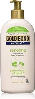 Gold Bond Ultimate Restoring Lotion with Green Tea, 13 Ounce, Vitamin C & Antioxidants Help Restore Moisture & Smooth & Soften Skin