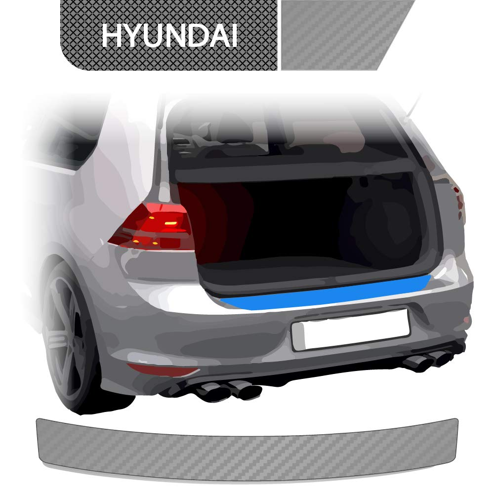 Ladekantenschutz Lackschutzfolie für Hyundai Tucson TL ab2018-Carbon Schutzfolie