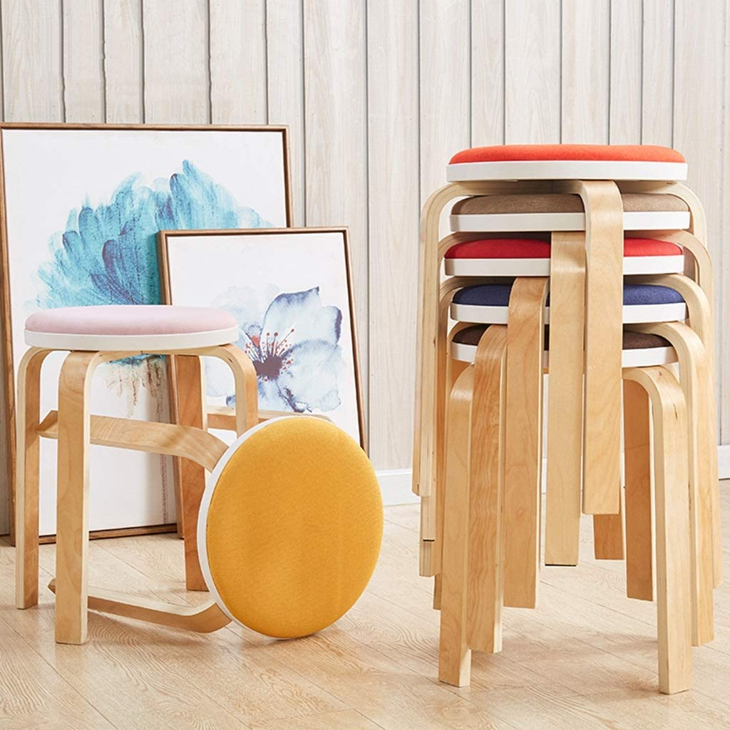 Tabourets Petit banc Coussin en éponge intégré Chaise multifonctionnelle élégante Tabouret de dressage Tabouret haut Restaurant Banc (Color : I) L