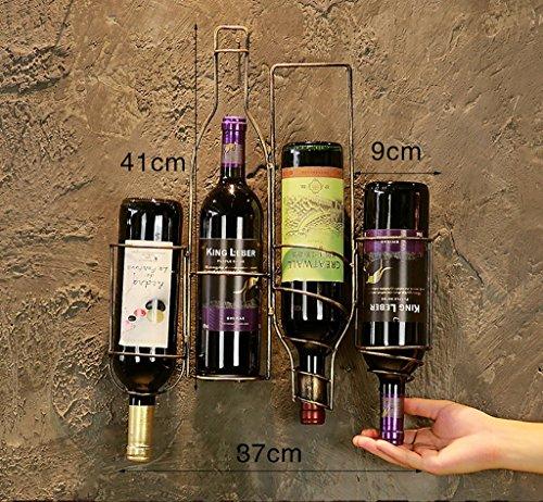 Estantería de vino Hierro forjado negro / bronce / rojo colgante de pared Vintage Old Craft 3 tamaño 3 colores Estilo europeo retro opcional estilo industrial adecuado para la mayoría de los vinos pue