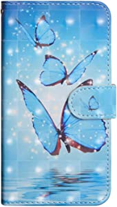 Bravoday Galaxy 2016 Leather Wallet Case  Flip Case with  Kickstand   Card Slots   Magnetic Closure  Flip Notebook Cover Case for Sumsung Galaxy 2016-Butterfly 2