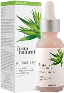 InstaNatural Retinol Serum - Anti Wrinkle Anti Aging Facial Serum - Helps Reduce Appearance of Puffiness, Wrinkles, Crows ...