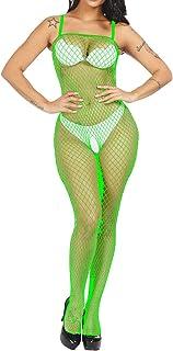 2aaf16956b2 LemonGirl Women Fishnet Bodystockings Lingerie Crotchless Strap Bodysuit  Stockings Free Size