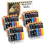D&C 20x Druckerpatronen geeignet für Canon PGI-520 CLI-521 Pixma IP3600 Series IP4600 Series IP4600X IP4700 MP540 MP550 MP560 MP620 Series MP630 MP640 Series MP640R MP980 MP990 MX860 MX870 Series