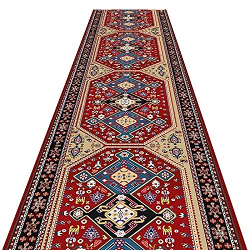 alfombra de Pasillo Rojo Pasillo Entrada Alfombra de Alfombra, CláSico Estilo Oriental Corredor de Alfombras por Entrada/Porche Delantero, Lavable Fácil de Limpiar (Size : 120×200cm(4ft×6.5ft))