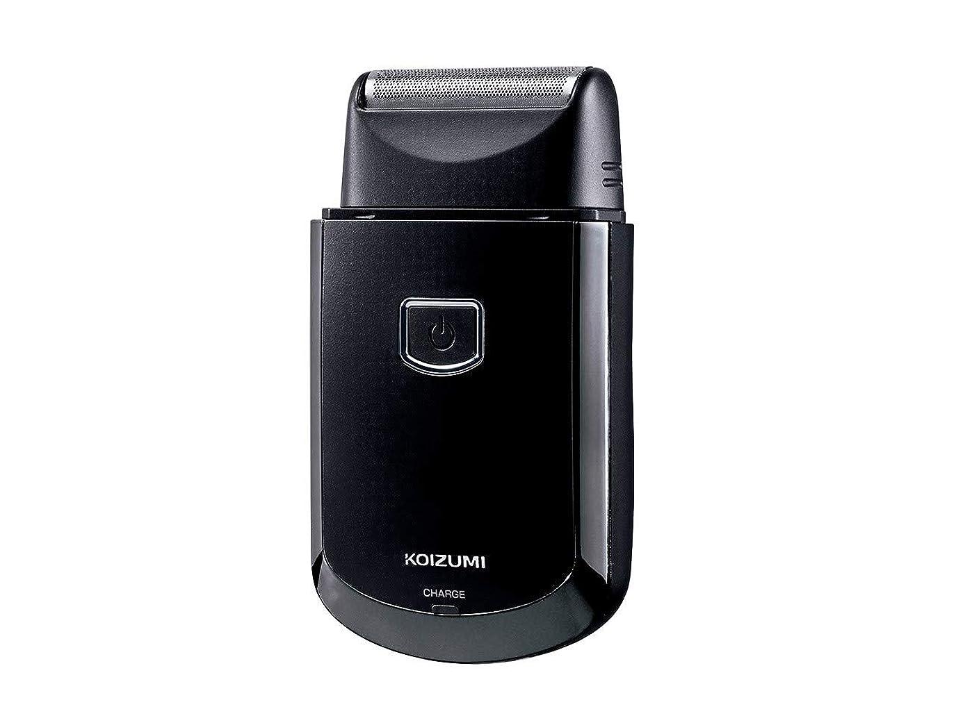救援砂利同じコイズミ メンズシェーバー USB充電式 往復式 ブラック KMC-0700/K