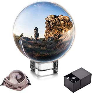 JIHUI Crystal Ball - Crystal Sphere Photography Prop 70mm (2.75 Inch) Clear