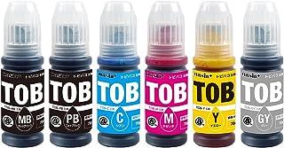 エプソン用 TOB (PGMB/PB/C/M/Y/GY) 【顔料ブラック/6色セット】 互換 インク ボトル 純正と併用OK [安心国内1年保証/QR(Web)説明書] TOB-MB TOB-PB TOB-C TOB-M TOB-Y TOB-G...