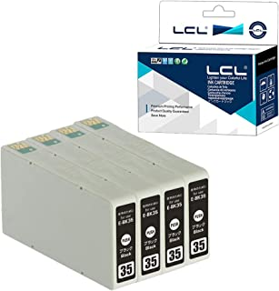 LCL EPSON用 エプソン用 IC35 ICBK35 (4パック ブラック) 互換インクカートリッジ 增量 残量表示付き 対応機種:PM-A900/PM-A950/PM-D1000