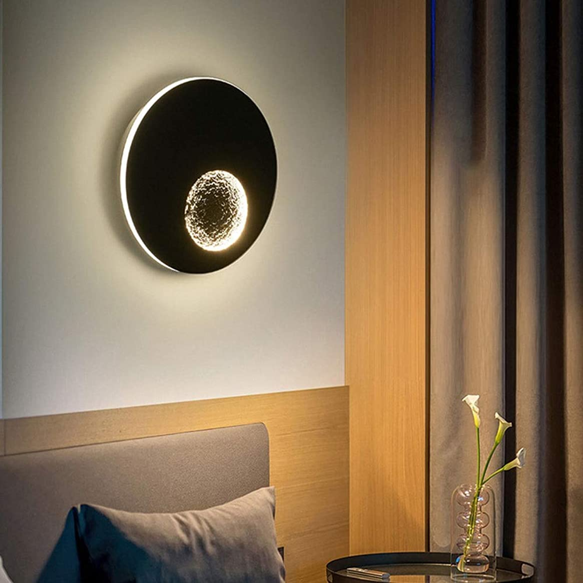 実験をする気分スパークWSW Bright Wall Light モダンリビングルーム壁ランプテレビの背景ウォールデコレーションホテル客室ベッドサイドランプベッドルームの高級クリスタルウォールランプD23CM