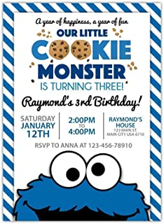 personalized cookie monster invitations