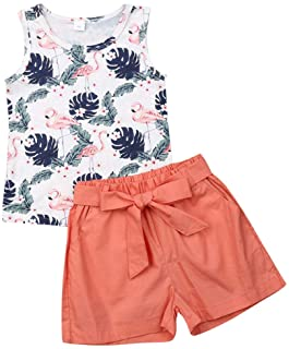 Young U Toddler Girl Summer Clothes Letter Print Vest Tops Tassels Shorts 2pcs Baby Girl Outfit Suit