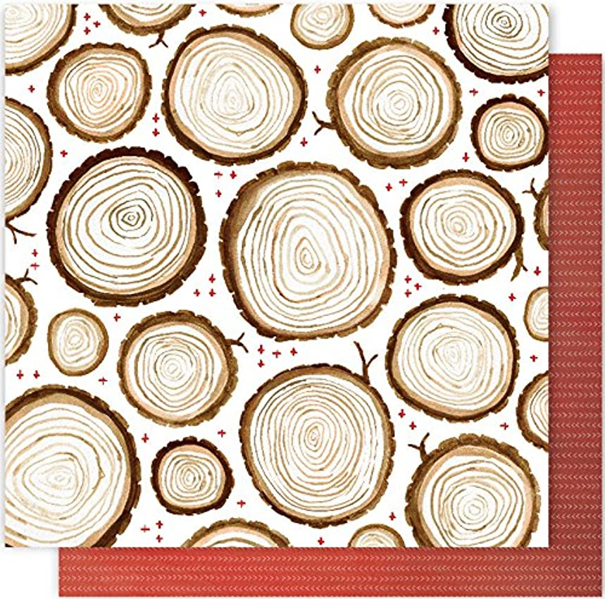 American Crafts 1 Canoe 2 Creekside 25 Pack of 12x12 Inch Paper Rings and Crosses Piece