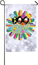 FOOOKL Boo Crew Letter Pumpkin Halloween Home Family Party Flag Hipster Welcomes The Banner Garden Flags
