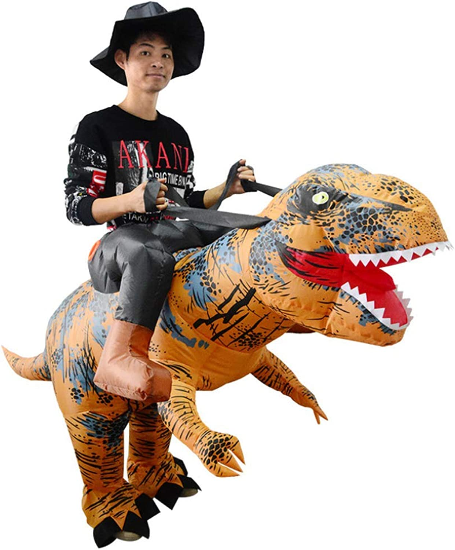 HXYL Halloween Dress Up Dinosaurier Kostüm, Reiten Tyrannosaurus Inflatables, Halloween, Weihnachten, Maskerade, Lustiger Streich