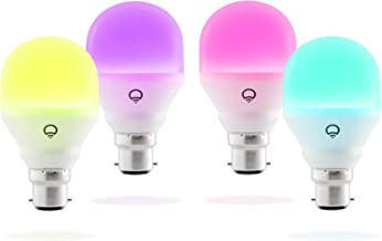 LIFX Mini Colour A19 LED Smart Light Living Pack - Bayonet B22 (4 Pack)