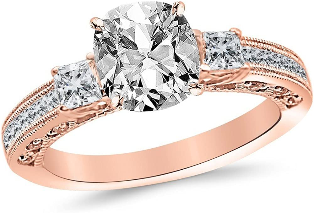 1.5 Ctw 14K White Gold Three 3 Channel Stone Challenge the lowest price of Japan Popular brand Set Cut Princess GI