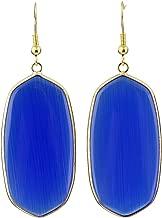 SUNYIK Women's Stone Crystal Dangle Drop Earrings, Oval Shape
