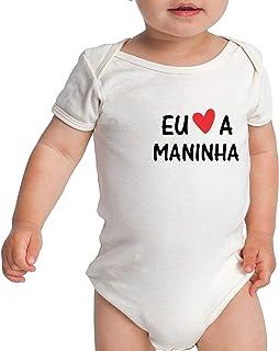 Body Criativa Urbana Bebê Divertido Frases Família Amo a Maninha Mana Irmã
