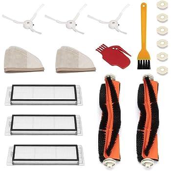 WEYO Kit Recambios Repuestos y Accesorios para Aspiradora Xiaomi Aspirador Roborock S50 S51 S55 S5 S6 Roborock 2 Xiaomi MI Mijia Robot, Filtro HEPA, Cepillo Central, Cepillo Lateral y Rodillos etc.: Amazon.es: