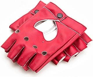 Punk Fingerless Dance Glove For Women, Jazz Style Glove, PU Leather