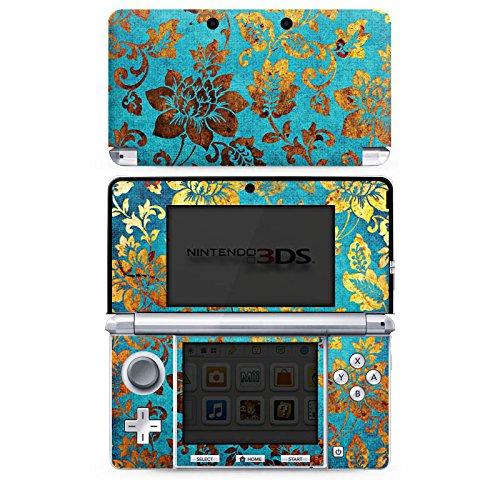 DeinDesign Skin kompatibel mit Nintendo 3 DS Folie Sticker Pattern Ornamente Blume