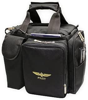 Design 4 Pilots Brand Pilot Bag Cross Country Flight Bag, Aviation Bag, Black