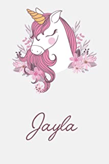 Jayla And Unicorn: Great Gifts Notebook for Women, Girls, Wives, Mom, Aunt, kids Friends | Fun Spy Games for Holiday | Jay...