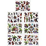 DEORAIO 8 Sheets Marvel Avengers Temporary Tattoos for Kids Super Hero Party Supplies Set Fake...